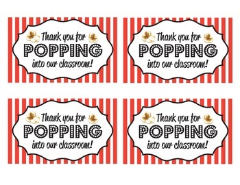 photograph regarding Thanks for Popping by Free Printable titled \