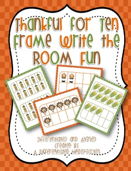 Thanks for Ten Frame Write The Room Fun-Differentiated and Aligned