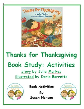 Thanks for Thanksgiving: Book Study Activities