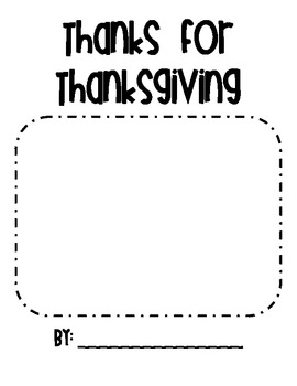 Thanks for Thanksgiving - Using lists to generate ideas in Writers' Workshop