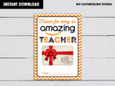 Thanks for being an Amazing Teacher, Amazon Gift Card Holder, Appreciation