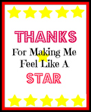Thanks for making me feel like a star