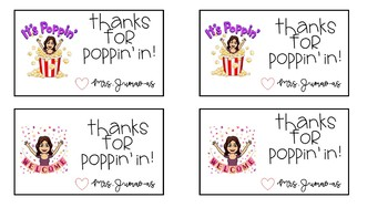 Thanks for poppin' in sign (insert your own bitmoji) Editable