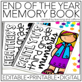 Thanks for the Memories {An EDITABLE End of the Year Memory Book}