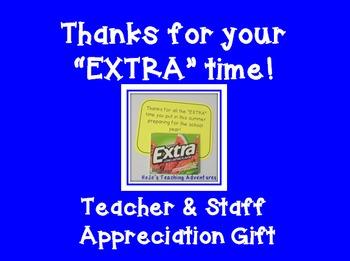 Back to School Teacher Appreciation Gift Tag Printable