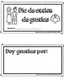 Thanks giving day book in spanish (dia de accion de gracias)