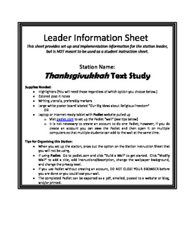 Thanksgivakkuh Text Study
