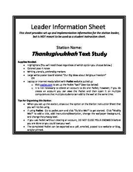 Thanksgivakkuh Text Study