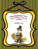 Thanksgiving Bundle Social Studies Literacy and Math Grade