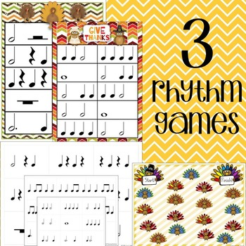 Thanksgiving Music Game Mega Bundle- 10+ Games and Activities!