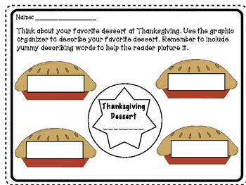 Thanksgiving FREEBIE! Descriptive Writing Prompts (Primary)