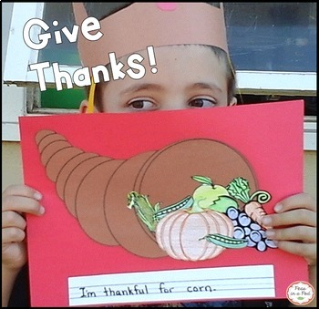 Thanksgiving Crafts Cut and Paste Cornucopia Craft, Gratitute Award, & Hat!