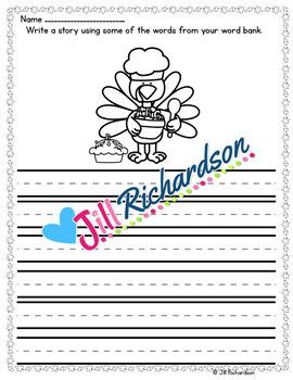 Thanksgiving ESL - Thanksgiving Writing - Great for ESL Writing