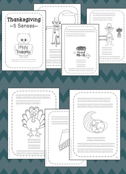 Thanksgiving 5 Senses! preschool, kindergarten, first grade