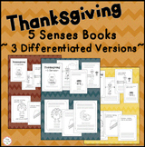 Thanksgiving 5 Senses! November preschool, kindergarten, first grade
