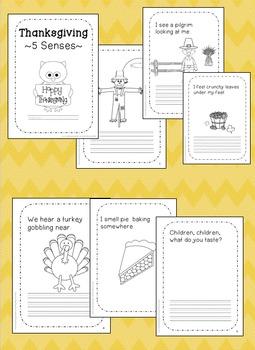 Thanksgiving 5 Senses! November preschool, kindergarten, first grade
