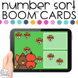 Thanksgiving 0-20 Number Sort Boom™ Cards - Distance Learn