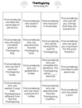 No Prep Thanksgiving Activities - Thanksgiving Fun Packet for Upper Elementary