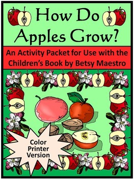 Fall Activities: How Do Apples Grow Activity Packet