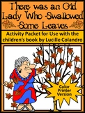 Thanksgiving Reading Activity: Old Lady Who Swallowed Some Leaves Activity-Color
