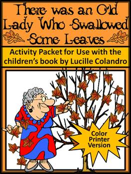 Thanksgiving Reading Activities: Old Lady WHo Swalllowed S