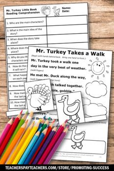 Thanksgiving Literacy Center Activities Emergent Readers Theater ELA Speech