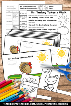 Thanksgiving Little Book with Comprehension Questions, Thanksgiving Craft