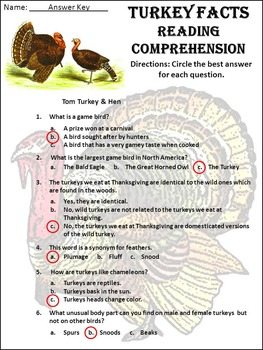 Thanksgiving Activities: Turkey Facts Thanksgiving Science Activity Bundle