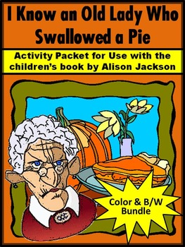 Thanksgiving Activities: Old Lady Who Swallowed a Pie Acti