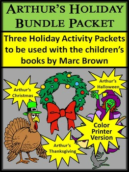 Thanksgiving Activities: Arthur's Holiday ELA Activities Bundle - Color