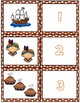 Thanksgiving 1-10 Cards ~ 1:1 Correspondence, Subitize, Numeral Recognition