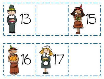 Thanksgiving 1-30 Number Find