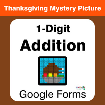 Thanksgiving: 1-Digit Addition - Math Mystery Picture - Google Forms