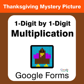 Thanksgiving: 1-Digit by 1-Digit Multiplication - Mystery Picture - Google Forms
