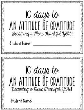 Thanksgiving: 10 Days to An Attitude of Gratitude