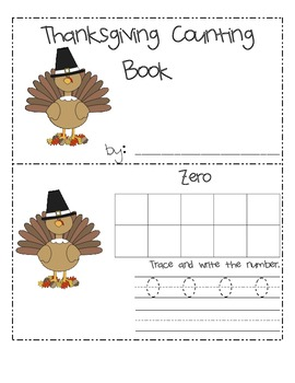 Thanksgiving 10 Frame Counting Book
