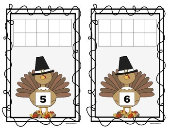 Thanksgiving 10 Frame Counting Mats (1-10)