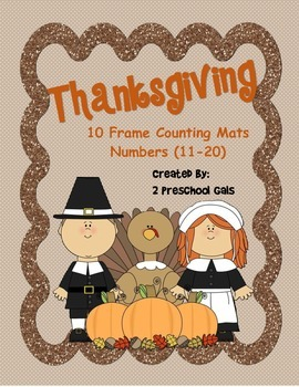 Thanksgiving 10 Frame Counting Mats (11-20)