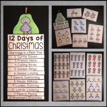 Thanksgiving Turkey & 12 Days of Christmas Flip Book 2-Pack Bundle