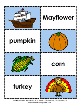 Thanksgiving Holiday Thematic Unit