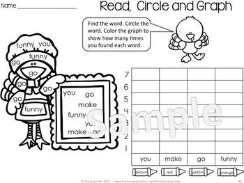 Thanksgiving Activities Kindergarten: Thanksgiving Math and Language Worksheets