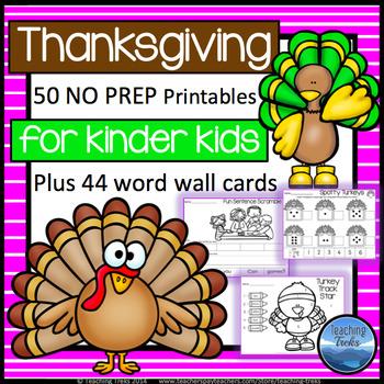 Thanksgiving Activities Kindergarten: Thanksgiving Math an