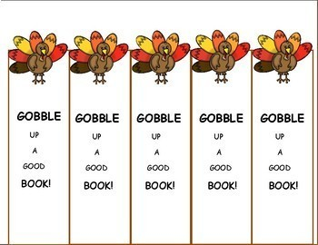 Thanksgiving Activities Bookmarks, Thanksgiving Freebie for Fall Activities