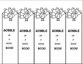 Turkey Activities, Bookmarks, Thanksgiving Freebie for Fall Activities
