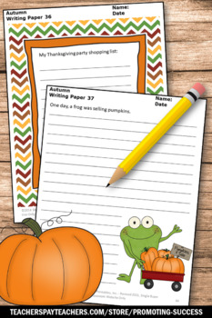 Thanksgiving Writing Papers with Pictures