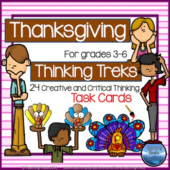 Thanksgiving Activities: Thanksgiving Task Cards Creative