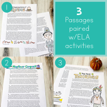 Thanksgiving Activities / Thanksgiving Writing / Thanksgiving Reading Passages