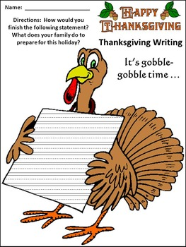 Thanksgiving Activities: Thanksgiving Writing Projects Activity Packet Bundle