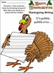 Thanksgiving Activities: Thanksgiving Writing Projects Act