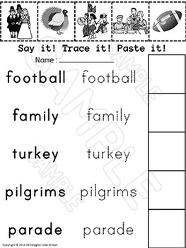 Thanksgiving Math and Literacy Activities for Pre-K and Kindergarten